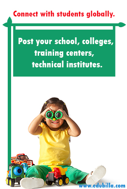 Post your School, College, Training centers, Technical institute details